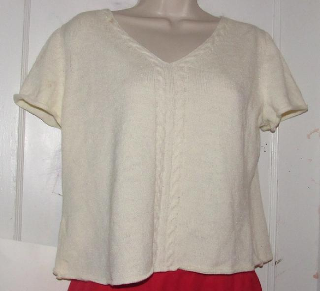 St. John Dressy Or Casual Excellent Condition Short Sleeve Size M By Sweater Image 1