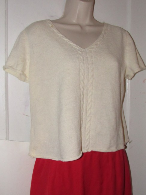St. John Dressy Or Casual Excellent Condition Short Sleeve Size M By Sweater Image 4