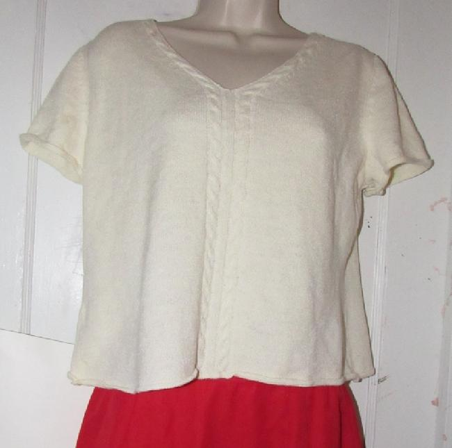 St. John Dressy Or Casual Excellent Condition Short Sleeve Size M By Sweater Image 8