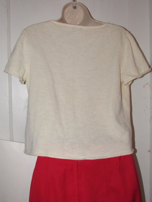 St. John Dressy Or Casual Excellent Condition Short Sleeve Size M By Sweater Image 9