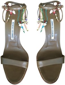 MANOLO BLAHNIK Made In Italy Chic Trendy Elegant Fashionable BROWN Sandals