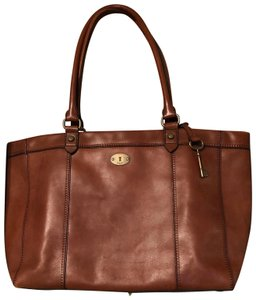 Fossil Leather Leather Leather Extra Large Vintage Tote in Russet brown