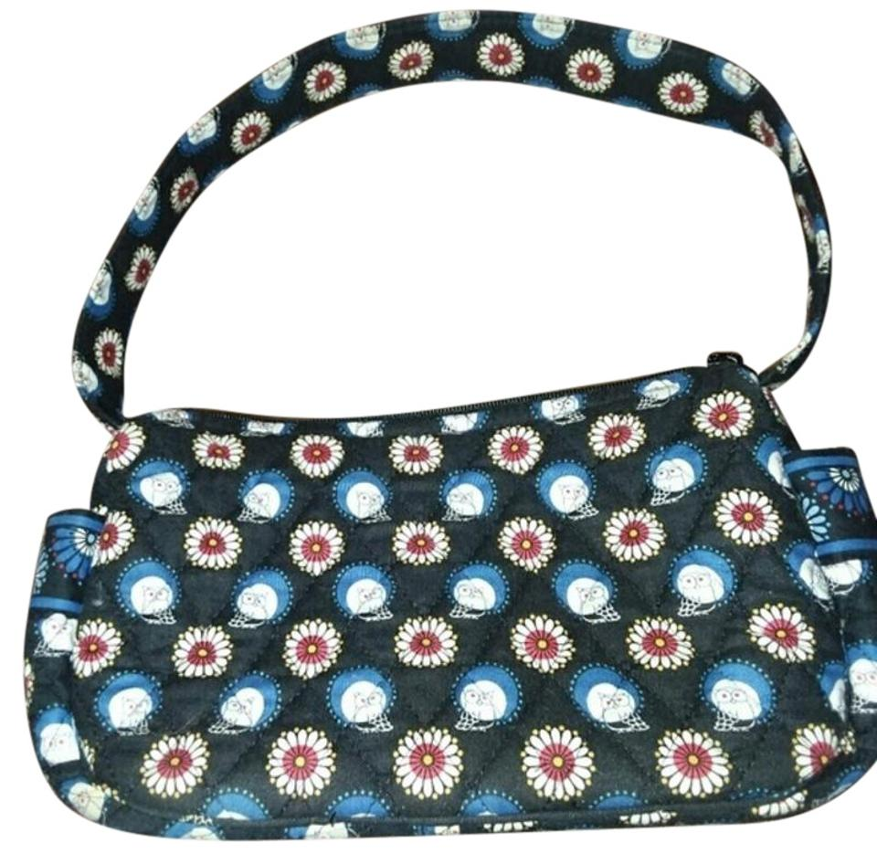 dd3d1da56396 Vera Bradley Small Maggie Black Blue Dark Red Quilted Cotton ...