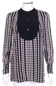 Tory Burch 'tammy' Black Polka Dot Print Tunic