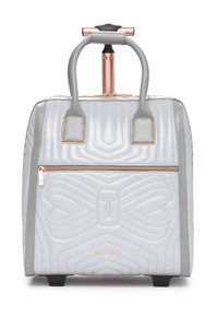 889439f56 Ted Baker Carry On Quilted Bow Suitcase Reflective Material Silver Travel  Bag