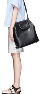 3.1 Phillip Lim Croc Embossed Wednesday Trapezoid Tote in Calfskin Leather Color Black Tote in Black