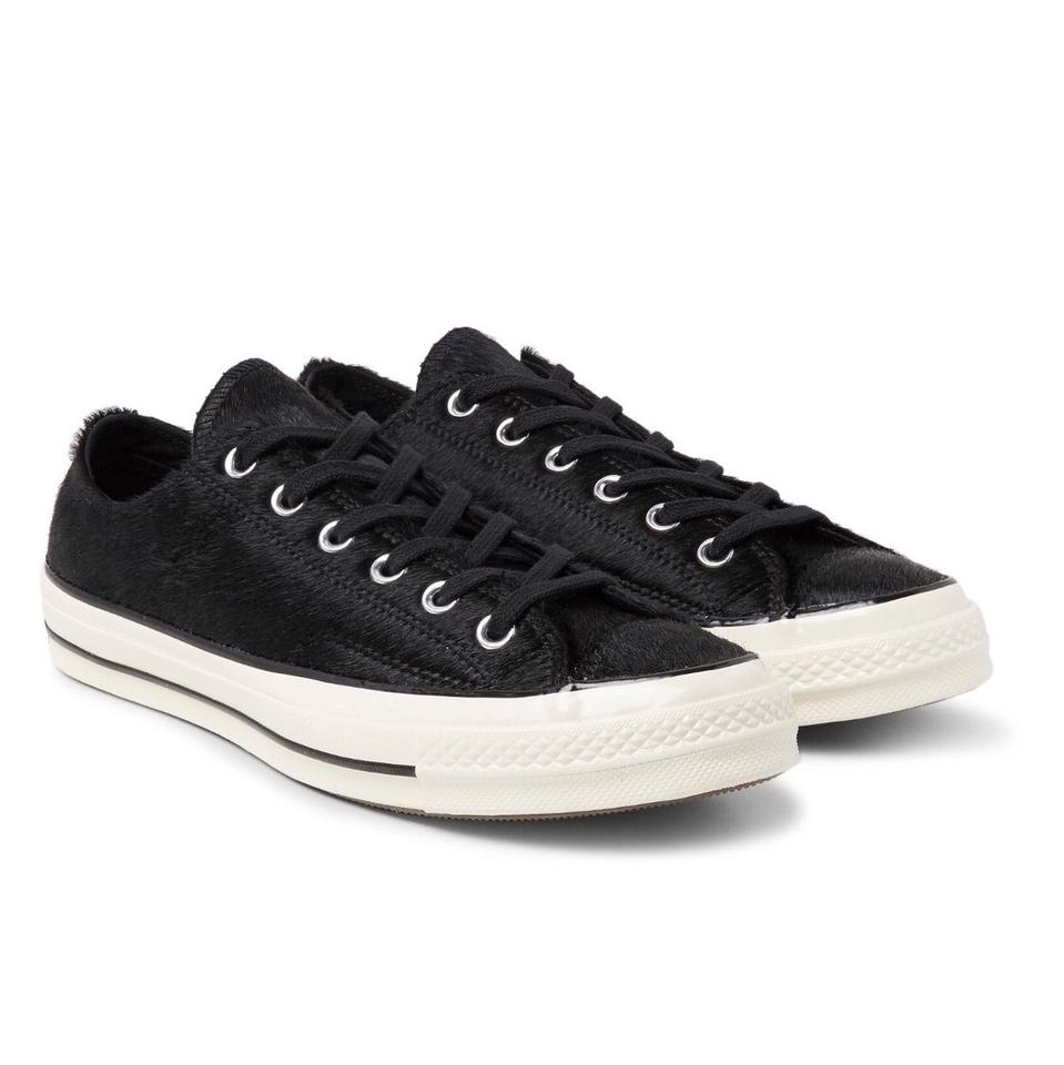 """Converse Black Fur """"haircalf"""" Jack Purcell Sneakers Size US 12 ... e68465b11"""