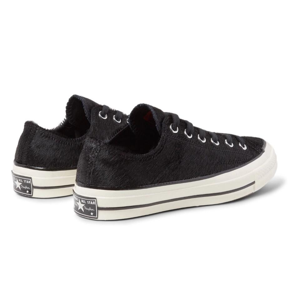 """54dee0820bf5 Converse Black Fur """"haircalf"""" Jack Purcell Sneakers Size US 12 ..."""