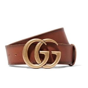 Gucci GG logo leather belt size 70