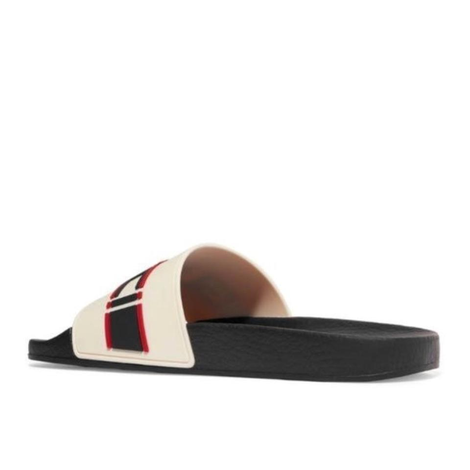 94dfd3dba Gucci Logo Embossed Rubber Slides Sandals Size EU 37 (Approx. US 7) Regular  (M
