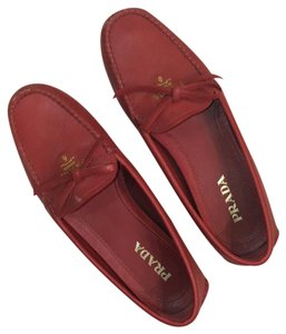 5cac890c90d coupon for prada unworn new prada red suede shoes loafers size 37.5 with silver  ring buckle 781f1 b2110  australia prada red leather driving loafers flats  ...