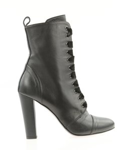 Barneys New York Leather Ankle Black Boots