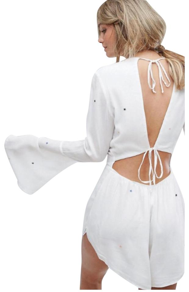 dc260ba99 Wildfox White Boho Star Print Long Sleeve Romper Jumpsuit - Tradesy