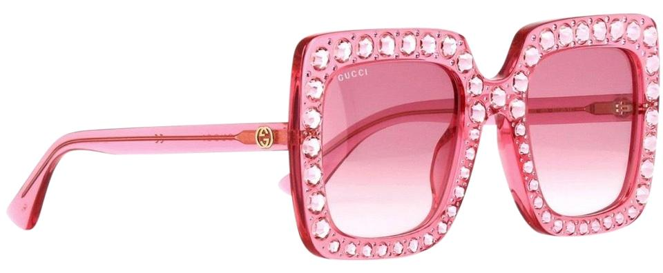 14bd0fa5f3 Gucci Pink Crystal Embelish 53mm Gg 0148s 003 Shade Sunglasses - Tradesy