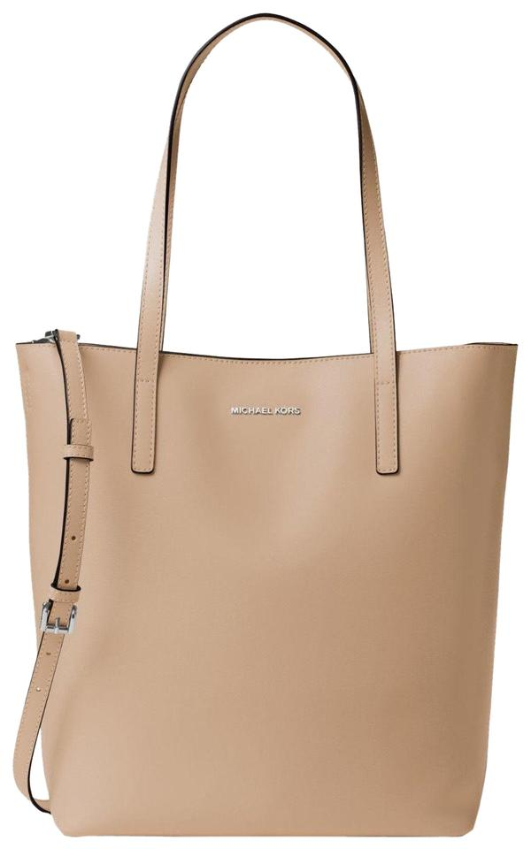 21184b714eca Michael Kors Emry Large Convertible Bisque Leather Tote - Tradesy
