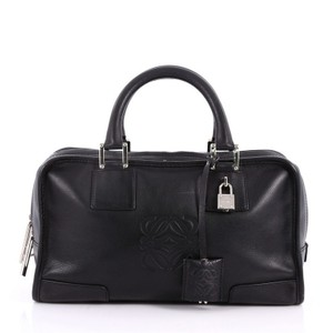 Loewe Leather Amazona Tote in black