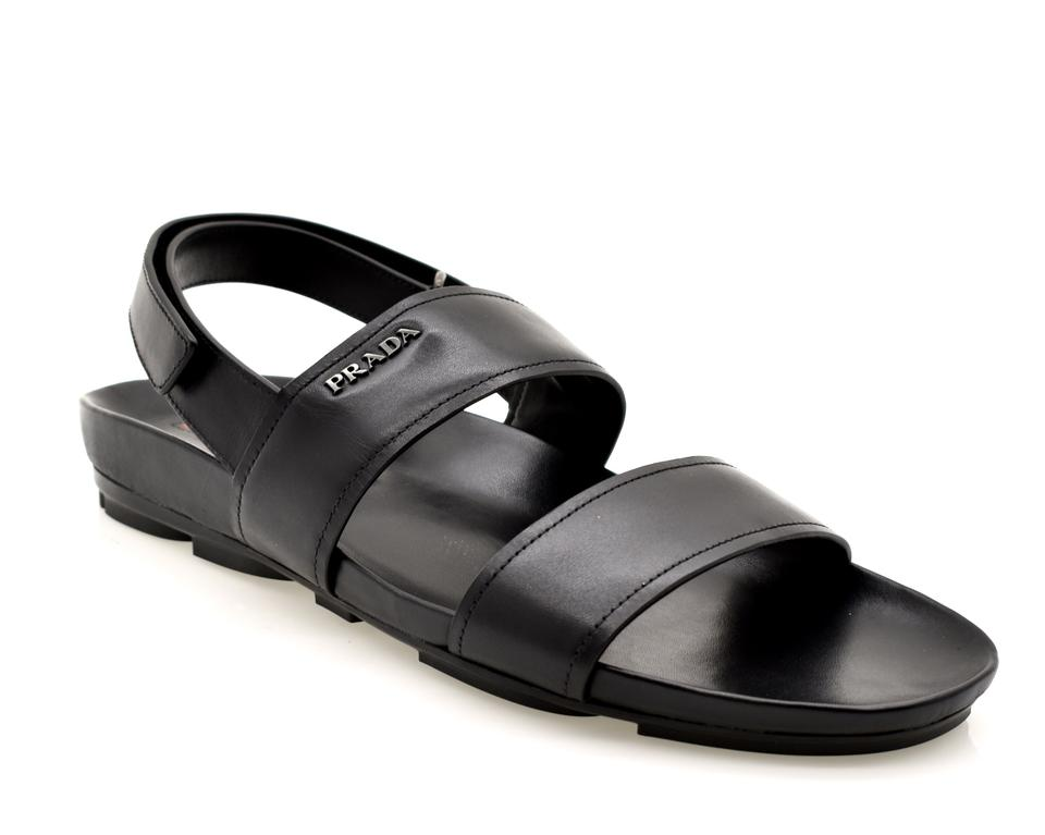 25b2cb03d Prada Black Men s Sandals Size US 9 Regular (M