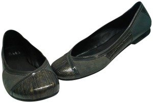 Alex Marie Leather GREY GREEN MARBELIZED Flats