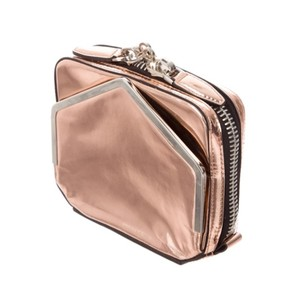 Alexander Wang Metallic Leather Formal Rose Gold Clutch