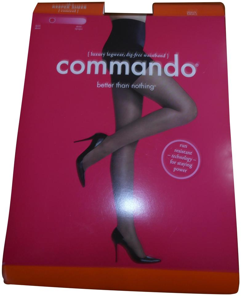 af204581971 Commando Commando The Keeper Sheer (control) pantyhose BLACK Size S NEW in  pack Image ...