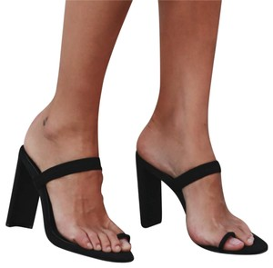 Tony Bianco Lycra Black Sandals