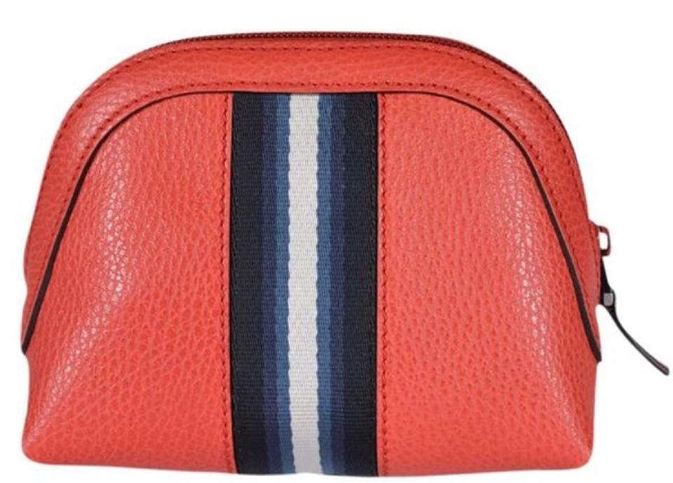 d7dd268dd81 Gucci Sporting Red Leather Web Zip Top Case  Clutch  339558 Cosmetic ...