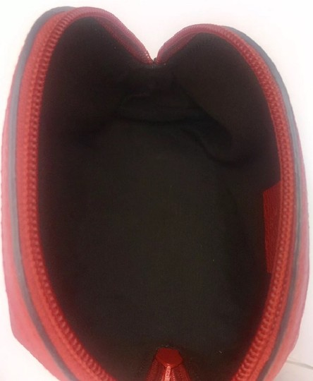 Gucci Gucci Leather Web Zip Top Cosmetic Case/ Clutch #339558 Image 4