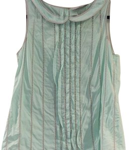 LOFT Top Light Turquoise And Khaki