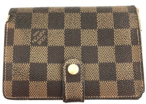 Louis Vuitton Damien French Wallet Kiss Lock Pocket Bill Holder card coin case