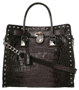 Michael Kors Studs Croco Alligator Large Tote in Grey Crocodile