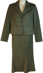 Isabel & Nina Isabel&Nina Brown Poly Blend Skirt Suit 14
