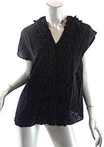 Zucca And White Polka Dots Top Black