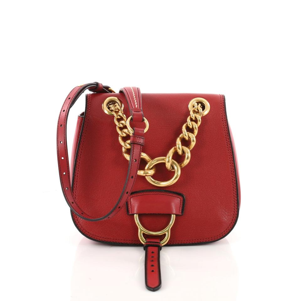 Miu Miu Dahlia Crossbody Small Red Leather Shoulder Bag - Tradesy 0864c4d222394