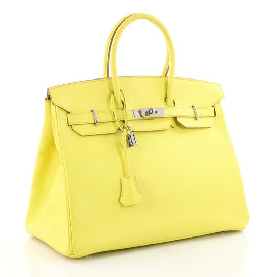 Hermès Leather Tote in yellow