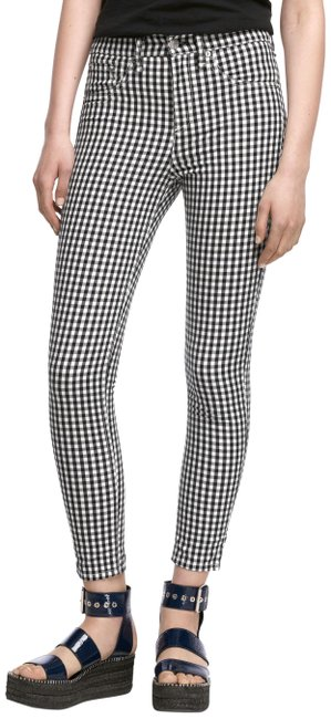 Item - Black And 10 Inch Gingham Pants Capri/Cropped Jeans Size 26 (2, XS)