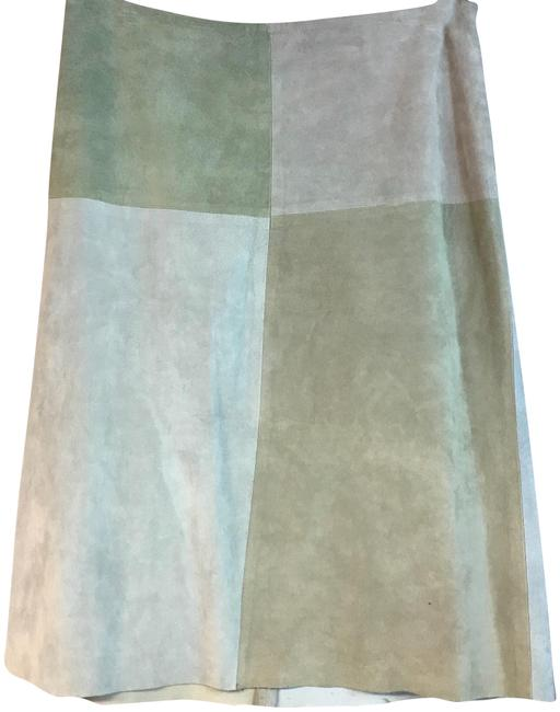 Preload https://img-static.tradesy.com/item/24018936/new-frontier-light-green-colorblock-suede-leather-knee-length-skirt-size-10-m-31-0-1-650-650.jpg