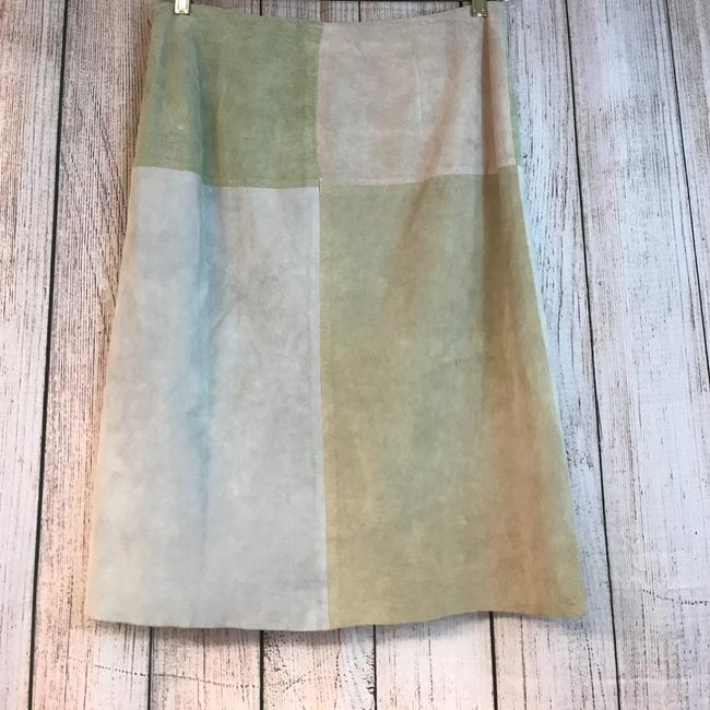 New Frontier Suede Skirt Light Green Image 1