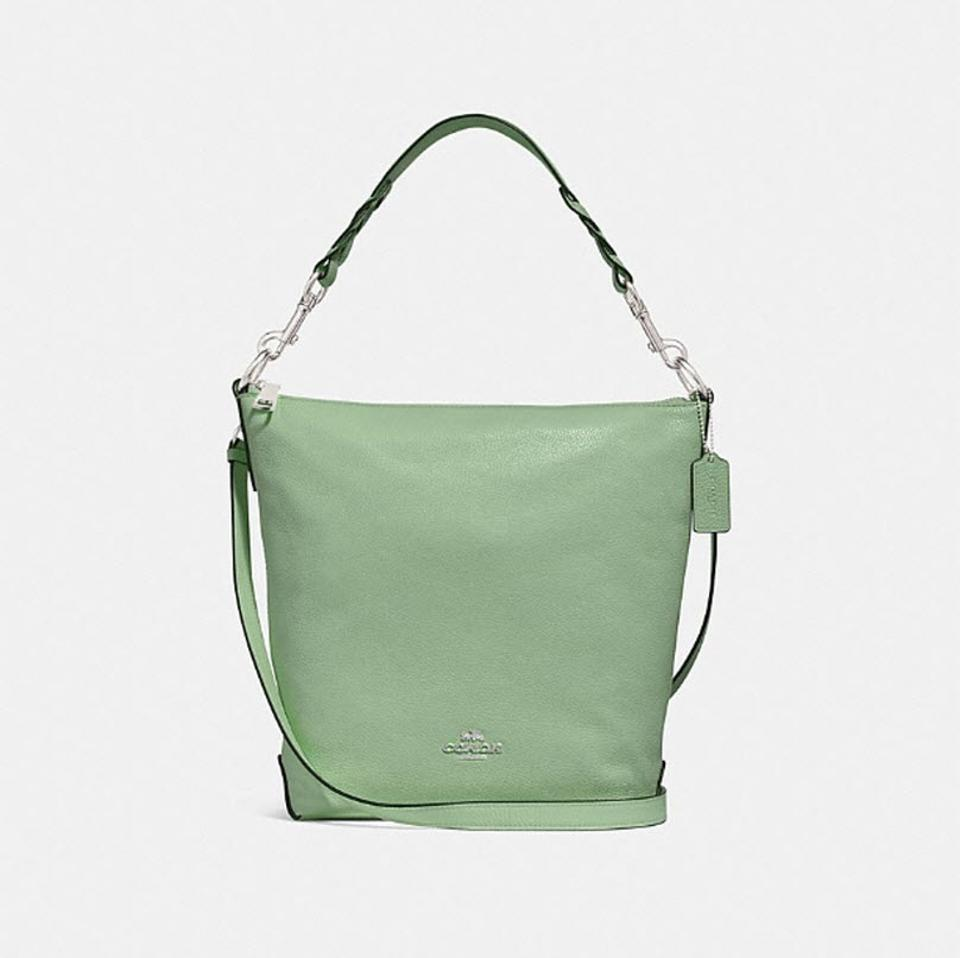 6c9c47f2a610 Coach Duffle Shoulder Abby Style No. F31507 Green Leather Shoulder ...