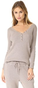 Hatch Collection Maternity Knit V-neck Comfortable Beige Sweater