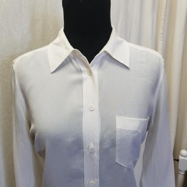 Equipment Bret Slim Silk Button Down Shirt Bright White Image 5
