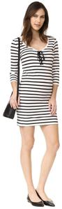 Hatch Collection short dress black white Maternity Striped Nautical Lace Up Scoop Neck on Tradesy