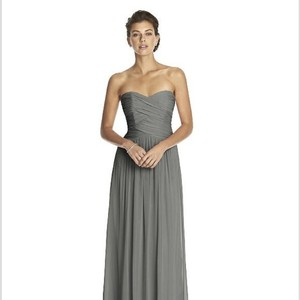 Dessy Charcoal Chiffon 2880 Feminine Bridesmaid/Mob Dress Size 8 (M)