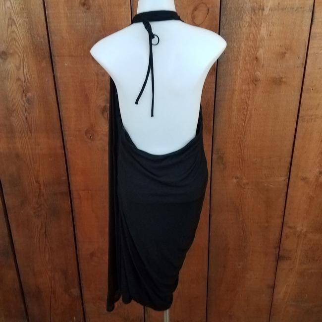 L.A.M.B. Asymmetric Knit Cape Dress Image 4