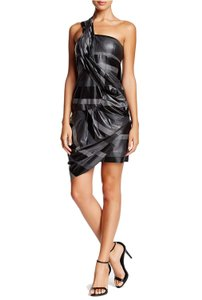 L.A.M.B. Printed One Shoulder Pinched Dress