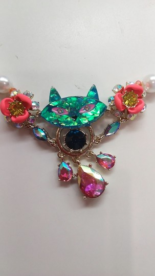 Betsey Johnson Betsey Johnson Kitty Necklace and Earrings Image 2
