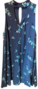 Altar'd State short dress Blue Embroidered Rayon Polyester on Tradesy