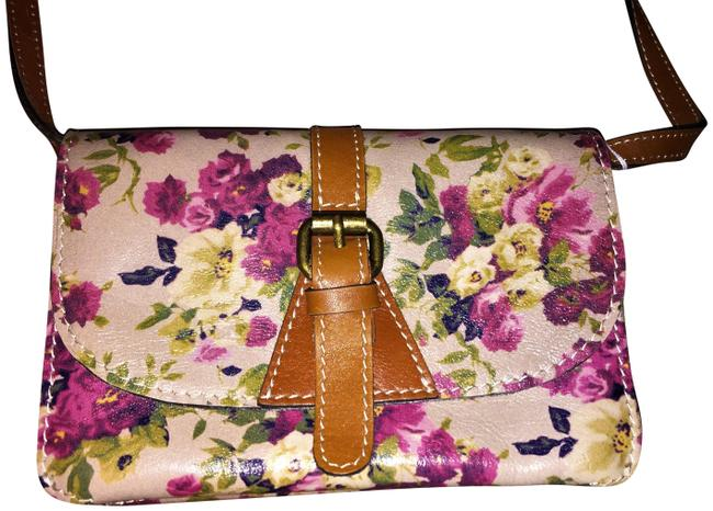 Item - Clutch Floral Convertible Multicolor Leather Cross Body Bag