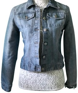 Todd Oldham Light Denim Wash with distressing Womens Jean Jacket