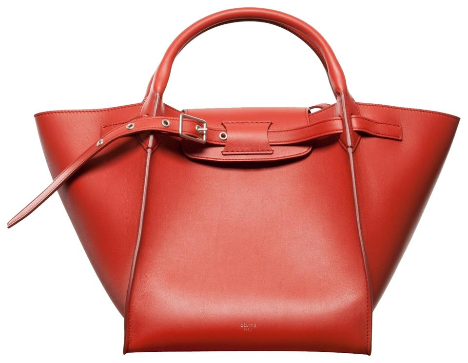 b43a12e719 Céline Big Bag Small with Long Strap In Smooth Fox Red Calfskin ...