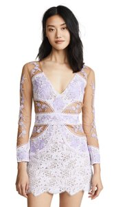 For Love & Lemons Bodycon Naked Illusion Floral Dress